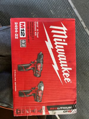 Milwaukee Drill Set/ 2-tool Combo Kit for Sale in View Park-Windsor Hills, CA