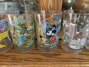 7 Disney glass collectible cups. Very cute. Original from a MCDs special collection addition. for Sale in Shingle Springs, CA