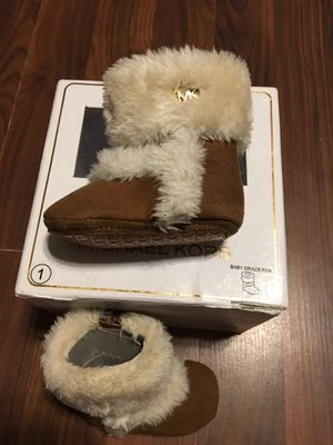 New Baby girl MK Boots size 1 for Sale in Mission, TX
