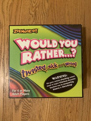 Board Game: Would You Rather...? for Sale in New York, NY