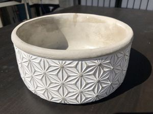 Cement white flower pot for Sale in San Mateo, CA