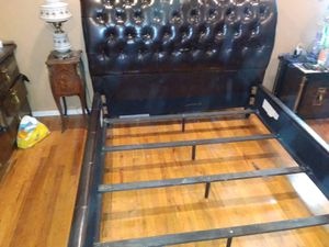 Queen size bed frame including box spring and mattress for $400 for Sale in Union, NJ