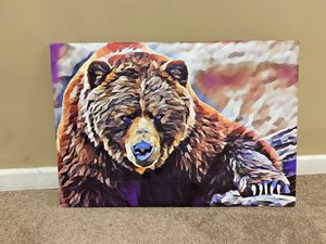 Canvas picture bear for Sale in Cheshire, CT