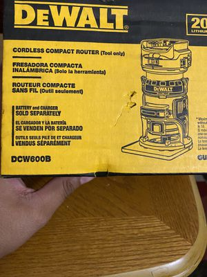 DEWALT 20v MAX XR Cordless Brushless Router (Tool-Only) New for Sale in San Diego, CA