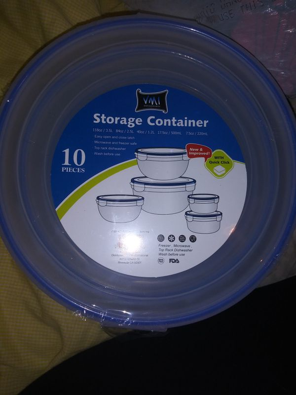 Storage containers set of 5