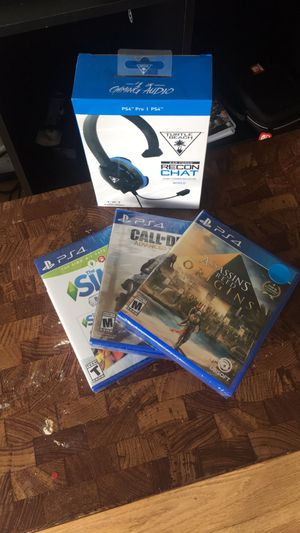 PS4 Headset & Game Bundle For Sale for Sale in Frederick, MD