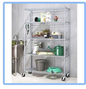 Outdoor Shelving Rack with Wheels- Anaheim Hills for Sale in Anaheim, CA