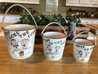 """Tilso MidCentury 3 Piece Pottery Snack Set - """"Pop Goes The Corn"""" for Sale in Colleyville,  TX"""