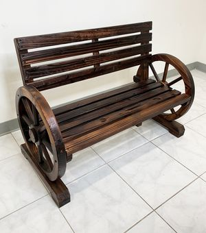 "New $80 Wooden 41"" Wagon Bench Rustic Wheel for Patio Garden Outdoor 41x20x30"" for Sale in South El Monte, CA"