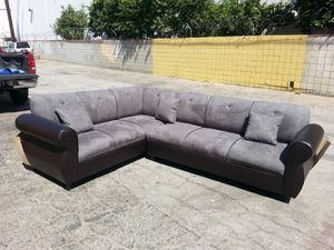 NEW 7X9FT CHARCOAL MICROFIBER COMBO SECTIONAL COUCHES for Sale in Norwalk, CA