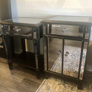 Pier 1 Imports, 2 Hayworth Mirrored Chest & Stand, Espresso for Sale in Aurora, CO