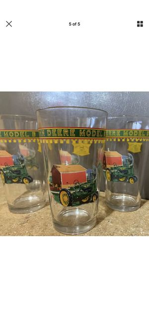 Set of 5 Gibson John Deere beer glasses for Sale in Young, AZ
