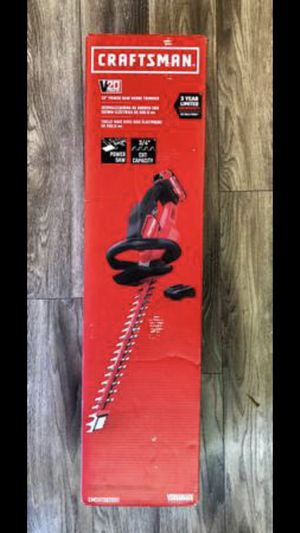 CRAFTSMAN V20 Cordless Hedge Trimmer, 22-Inch (CMCHTS820D) for Sale in Los Angeles, CA