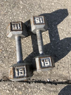 15 pound dumbbells for Sale in Oviedo, FL