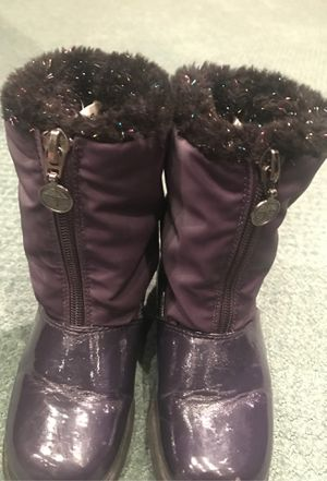 Size 10 Kids Step In Stride Purple Sparkle Rain & Snow boots for Sale in San Diego, CA