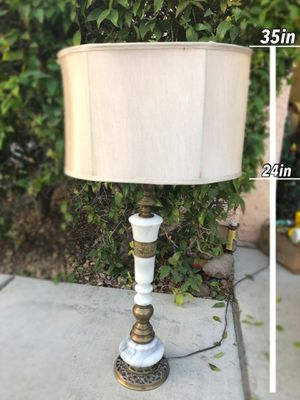 Vintage Mid Century Leviton Lamp with Brass and Marble with Newer Shade for Sale in Henderson, NV