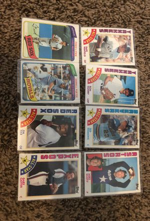 8 Baseball Cards from the 80s for Sale in Bloomington, CA