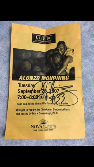 Alonzo morning autograph for Sale in Hialeah, FL