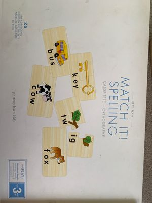 Matching spelling game! Pottery Barn Kids (preschool/daycare) for Sale in BVL, FL