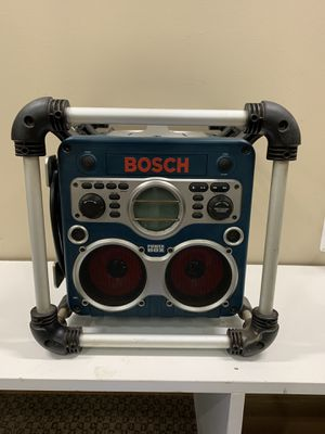 Bosch Power Box PB10-CD Rugged Jobsite Charger Stereo Radio CD Player MP3 Player for Sale in Warren, MI