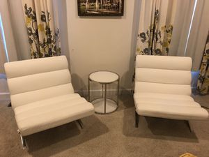 Accent chairs and table. for Sale in Leesburg, VA