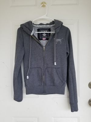 PINK Gray Rhinstone Zip-Up Hoodie for Sale in Vancouver, WA