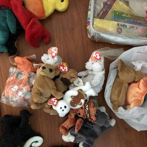 Beanie Babies Toys Lot Vintage Collectibles $110 for Sale in Fort Lauderdale, FL
