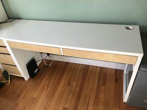 IKEA desk long w/ 2 drawers for Sale in Long Beach, CA