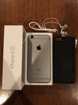 iPhone 6S 64GB Verizon/Unlocked with case, headphones, Apple charger, outlet for Sale in Tucson, AZ