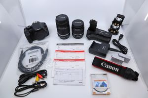 Canon EOS Rebel T2i 550D DSLR Camera, Battery Grip, 18-55mm, 55-250mm Lens, Case for Sale in Coram, NY