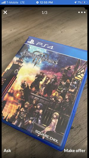 Kingdom Hearts 3 PS4 for Sale in Longwood, FL