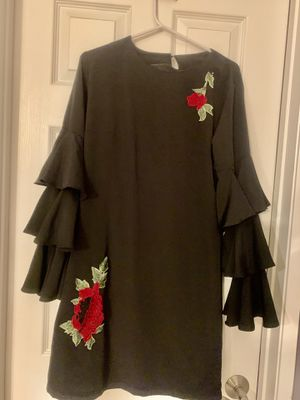 Elegant black dress with frilled sleeves for Sale in Corona, CA