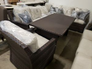 New 4pc outdoor patio furniture sectional sofa set tax included delivery available for Sale in Hayward, CA