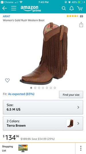 Ariat fringe cowgirl boots for Sale in Austin, TX