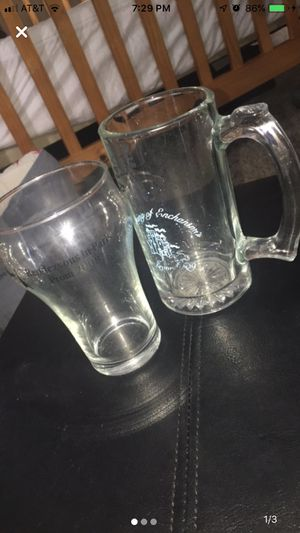 Beer mug and glass cup for Sale in Eastman, GA