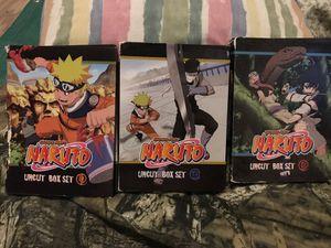 Naruto Box Set 1-3. for Sale in Buna, TX