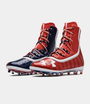 Under Armour Highlight LIMITED EDITION USA Football Cleats 3021191-600 Men's 12 New without box for Sale in Buckhannon, WV