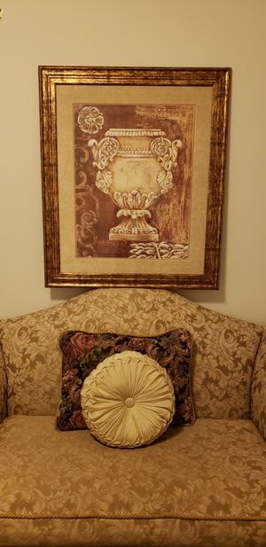 c4d9bc466d Custom-Made Loveseat with framed artwork for Sale in Conroe