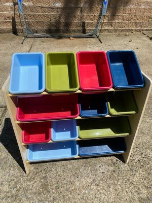 Toy Storage Rack with Bins for Sale in Roswell, GA