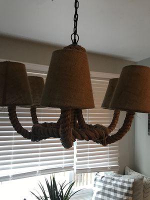 Beachy Rope chandelier for Sale in Marshfield, MA