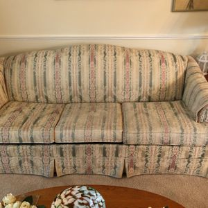 Free Couch(pullout Bed), Loveseat, Chair, MUST PICK UP for Sale in Fairless Hills, PA
