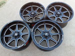 20 inches rims wheels 5 lugs 5x5.5 or 5x139.7 fif on ford f-150 f-100 dodge ram Durango Dakota jeep cj kia sorento sportage Mitsubishi raider Suzuki for Sale in Riverside, CA