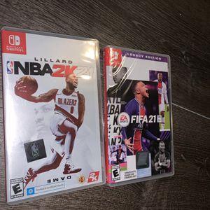 Nintendo Switch FIFA 21 NBA 2k21 for Sale in Meriden, CT