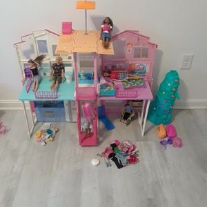 BARBIE Dollhouse with Dolls and Furniture for Sale in Laurel, MD