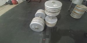 125 lb pair dumbbells weights for Sale in Fresno, CA