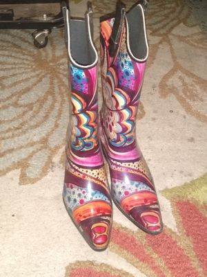 Rain boots sz 10W for Sale in Oklahoma City, OK