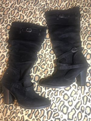 Women's high heeled boots sz 8 for Sale in Seattle, WA