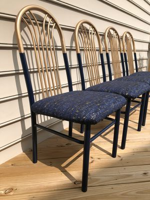 Custom Refinished Set of Four (4) Dining Chairs for Sale in Ashburn, VA