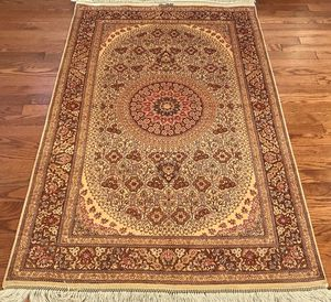 Extra fine signed Persian Qum all silk rug 3'x5' for Sale in Rockville, MD