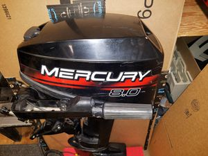 Mercury 8.0 HP Outboard Boat Motor * Two-Stroke * Tiller Handle * NICE!!! for Sale in Tacoma, WA